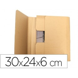 CAJA PARA EMBALAR Q-CONNECT LIBRO MEDIDAS 300X240X60 MM ESPESOR CARTON 3 MM