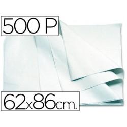 PAPEL MANILA 62X86 BLANCO -PAQUETE DE 500 HOJAS