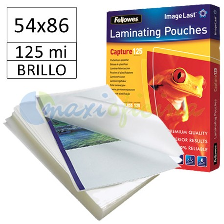 Fundas de Plastificar 125 Micras Brillo 54x86