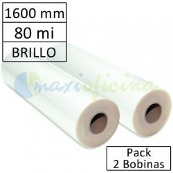 Bobina Plastificadora 80 Micras Brillo 1600mm.