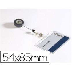 IDENTIFICADOR CON CORDON EXTENSIBLE DURABLE USO VERTICAL/HORIZONTAL 54X85 MM