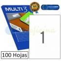 Etiquetas Adhesivas economicas Multi3 210x297mm ref. 04714