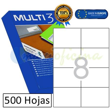 Etiquetas Adhesivas economicas Multi3 105x74mm (10530)