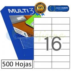 Etiquetas Adhesivas economicas Multi3 105x37mm (10524)
