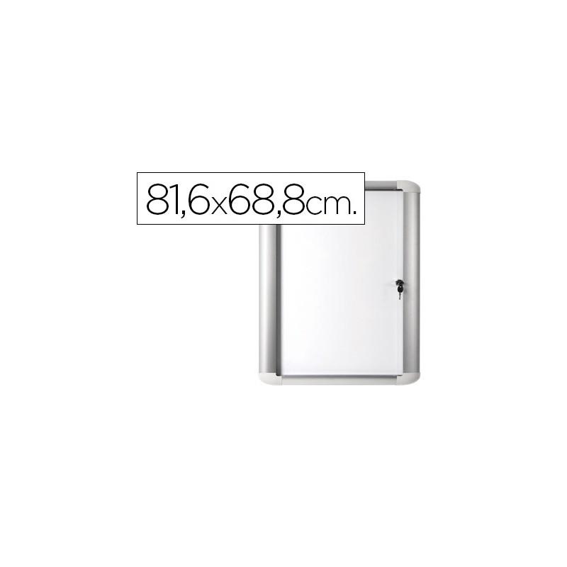 VITRINA DE ANUNCIO BI-OFFICE MAGNETICA 816X688 MM PARA EXTERIOR CON ...