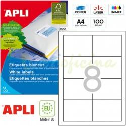 Etiquetas Adhesivas Apli 97 x 67,7mm 100h Ref.01291