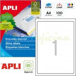 Etiquetas Adhesivas Apli 199,6 x289,1mm 100h Ref.02412