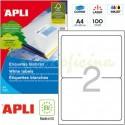 Etiquetas Adhesivas Apli 199,6 x144,5 100h Ref.02423
