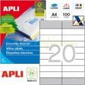 Etiquetas Adhesivas Apli 105 x28,75mm 100h Ref.12330