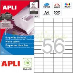 Etiquetas Adhesivas Apli 52,5x21,2mm 500h Ref.01777
