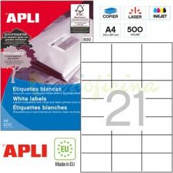 Etiquetas Adhesivas Apli 70x42,4mm 500h Ref.01779