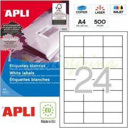 Etiquetas Adhesivas Apli 64,6x33,8mm 500h Ref.01781