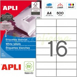 Etiquetas Adhesivas Apli 105x37mm 500h Ref.01785
