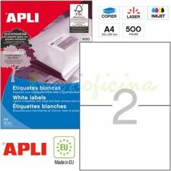 Etiquetas Adhesivas Apli 210x148mm 500h Ref.01787