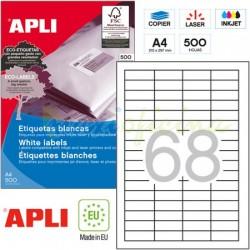 Etiquetas Adhesivas Apli 48,5x16,9mm 500h Ref.10557