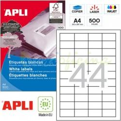 Etiquetas Adhesivas Apli 48,5x25,4mm 500h Ref.10558