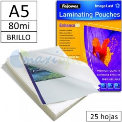 Fundas para Plastificar A5 80 Micras Brillo - Pack 25