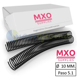 Espiral metálico de 10 mm.
