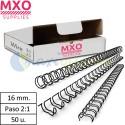 Caja 50 Wire-O metálicos de 16 mm