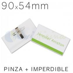Identificador Personal Q-Connect 90 x 54mm. Pinza e imperdible