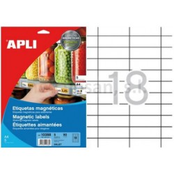Etiqueta MAGNETICA Apli 80x25mm 5h
