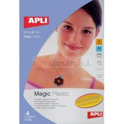 Bolsa Apli PLASTICO MAGICO INKJET 4 hojas