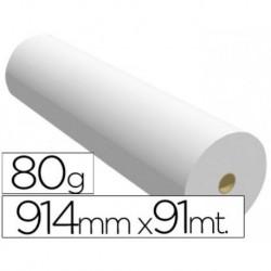 Papel reprografia para plotter 914mmx91mt 80gr impresion ink-jet. 2 BOBINAS