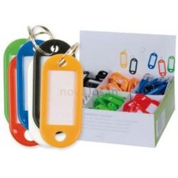 Llaveros de Plástico con etiqueta 5 x 2,2 cm