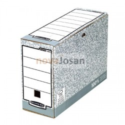 Caja de archivo definitivo A4 100 mm gris
