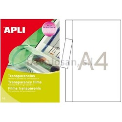 Caja Apli transparencias fototocopiadora banda lat. 100 hojas