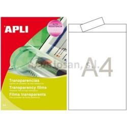 Bolsa Apli transparencias inkjet ban.sup. 20 hojas