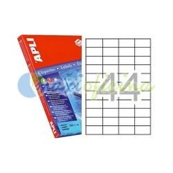 Etiquetas Adhesivas Transparentes Apli 48,5x25,4 10H