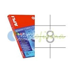 Etiquetas Adhesivas Extra Fuertes Apli 105x74mm 100h