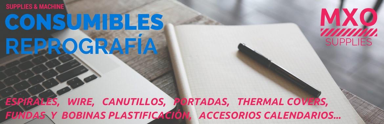 Consumibles y Accesorios para Encuadernación y Plastificación