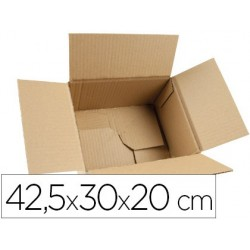 CAJA PARA EMBALAR Q-CONNECT FONDO AUTOMATICO MEDIDAS 425X300X200 MM ESPESOR CARTON 3 MM