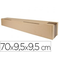 CAJA PARA EMBALAR Q-CONNECT TUBO MEDIDAS 700X95X95 MM ESPESOR CARTON 3 MM