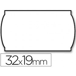 Etiquetas meto onduladas 32 x 19 mm lisa bl. adh 2 -rollo 1000 Etiquetas