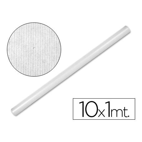 PAPEL KRAFT LIDERPAPEL BLANCO -ROLLO 10X1 MT