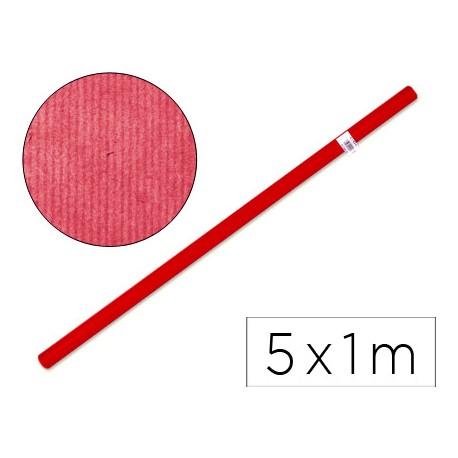 PAPEL KRAFT LIDERPAPEL ROJO -ROLLO DE 5X1 MT
