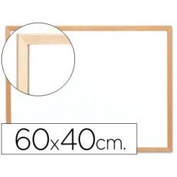 PIZARRA BLANCA Q-CONNECT MELAMINA MARCO DE MADERA 60X40 CM