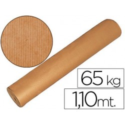 PAPEL KRAFT MARRON BOBINA -1,10 MT DE ALTURA 60/65 KG