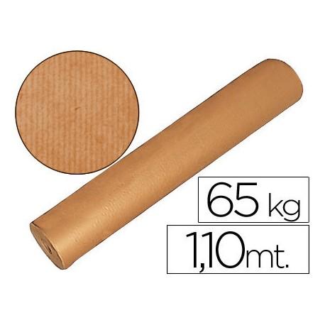 PAPEL KRAFT MARRON BOBINA -1,10 MT DE ALTURA 60/65 KG