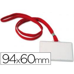 IDENTIFICADOR CON CORDON PLANO Q-CONNECT KF03303 94X60 MM -CON APERTURA LATERAL