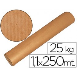 PAPEL KRAFT MARRON 1,10 MT X 250 MTS ESPECIAL PARA EMBALAJE