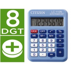 CALCULADORA CITIZEN BOLSILLO LC-110 8 DIGITOS CELESTE