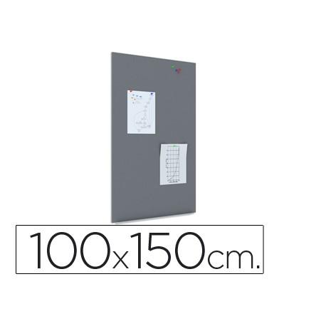 PIZARRA ROCADA MAGNETICA NEGRA CON SISTEMA SKI WHITEBOARD 100X150 CM