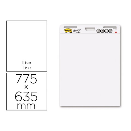 BLOC CONGRESO POST-IT LISO 775 X 635MM CON 30 HOJAS 80 GRS PACK PROMOCIONAL 2+1