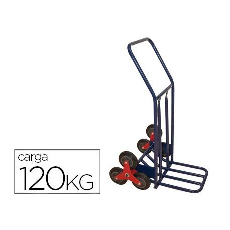 CARRETILLA PORTAPAQUETES SALVAESCALONES CON 6 RUEDAS TAMAÑO 1160X600X800 MM CARGA DE 120 KG