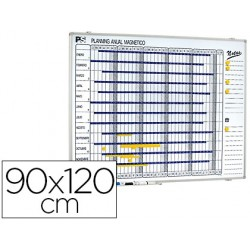 PLANNING MAGNETICO 1000/50 ANUAL DIA A DIA SUPERFICIE BLANCA ROTULABLE TAMAÑO 90X120 CM