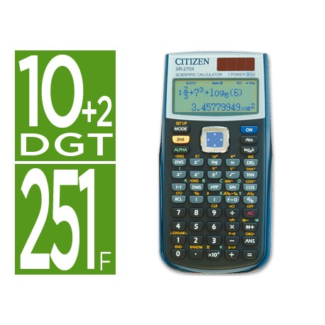 CALCULADORA CITIZEN CIENTIFICA SR-270X 10+2 DIGITOS
